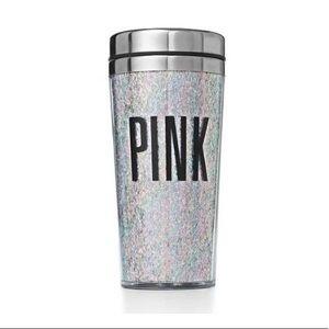 Victoria Secret PINK Coffee Cup Tumbler Glitter